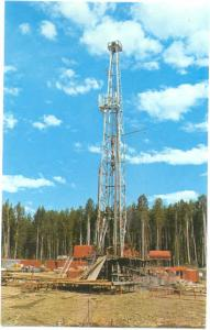 Oil Drilling Derrick near Fort Nelson, British Columbia, Chrome