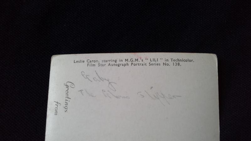 Black And White Postcard Preprinted Autograph Photo Leslie