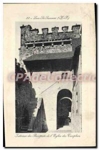 Postcard Old Luz St Sauveur church walls Templar