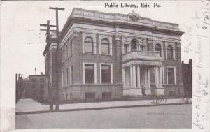 Bicycles In Front Of Public Library Erie Pennsylvania 1905