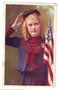 Daughter of the Regiment Vintage Patriotic Postcard