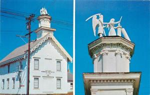 Mendocino California~Grim Reaper Statue Atop Masonic Temple~1960s PC