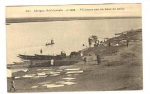 Afrique Occidentale, Pecheurs Sur Un Banc De Sable, Le Niger, Africa, 1900-1910s