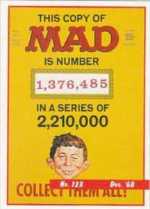 Lime Rock Trade Card Mad Magazine Cover Issue No 123 Dec 1968