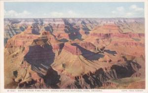 Fred Harvey Arizona Grand Canyon North From Pima Point Detroit Publishing