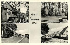 germany, AVENWEDDE i. W., Hauptstrasse, Herz-Jesu Kirche, Reinkebach-Siedlung
