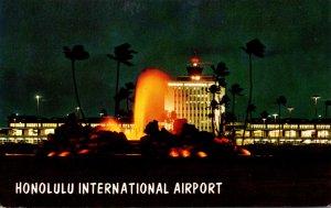 Hawaii Honolulu International Airport At Night