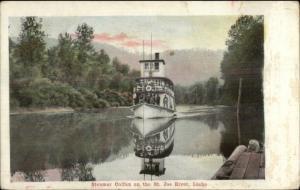 St. Joe River Idaho Steamer Ship Colfax c1905 Postcard