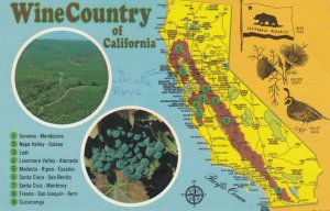 MAP: Wine Country of California , 50-60s