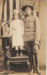 RP: Soldier & Nurse Girl Portrait , 1908 ; ATLANTIC CITY , New Jersey