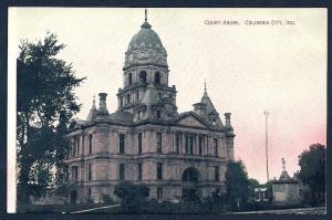 Court House Columbia City Indiana unused c1910's