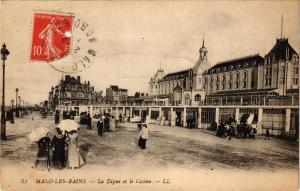 CPA MALO-les-BAINS. - La digue et le casino (194528)