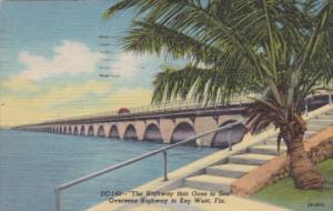 Florida Overseas Highway To Key West 1956 Curteich