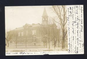 RPPC CENTRAL CITY NEBRASKA PUBLIC SCHOOL BUILDING VINTAGE REAL PHOTO POSTCARD
