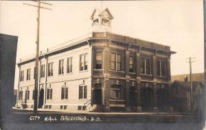 Brookings South Dakota City Hall Real Photo Antique Postcard K55518