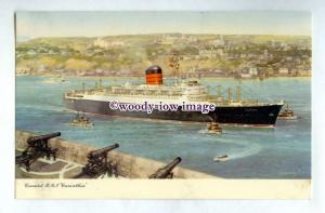 pf7107 - Cunard Liner - Carinthia , built 1956 - art postcard