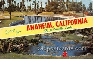 Greeting From Anaheim CA, USA Unused