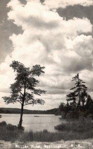 Washington, NH, Millen Pond, Unused RPPC Kodak Stamp box Vintage Postcard g8520