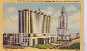 California Los Angeles Post Office Federal Building and City Hall Curteich