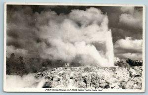 Postcard New Zealand Pohutu Geyser Rotorua RPPC c1930s Real Photo AD6