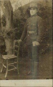 WWI Armenian Jew Soldier in Uniform Jewish Judaica c1915 Real Photo Postcard