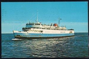 M.V.S. ABEGWEIT Ice Breaker Ferry Passenger NB to PEI pm1971 Chrome 1950s-1970s