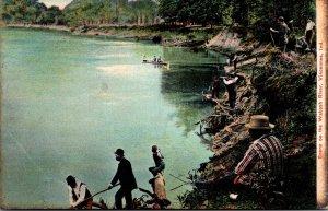 Indiana Vincennes Scene On The Wabash River 1907