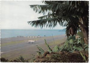 Madeira, O Aeroporto, The Airport, with Constellation Aircraft on Runway