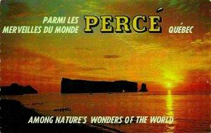 Canada Quebec Parmi les Perce Sunrise Landscape Postcard