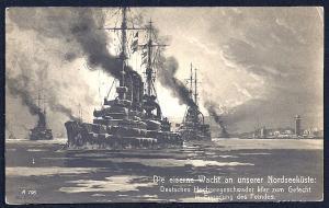 German North Sea Coast Iron Watch used c1916