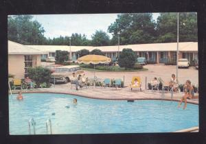 VALDOSTA GEORGIA ASHLEY OAKS MOTEL SWIMMING POOL CARS ADVERTISING POSTCARD