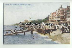 tp9457 - Essex - Kids & Jettty on Beach by Palmeira, Westcliff-on-Sea - Postcard