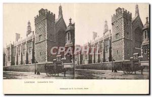 Stereoscopic Card - London - Lincoln's Inn - Old Postcard