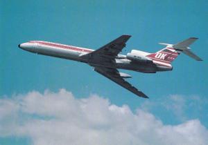 CZECHOSLOVAK AIRLINES, Tupolev TU-154M, unused Postcard