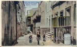 Petite Rue Sous Le Cap, Street Quebec Canada 1938