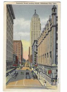 Robinson Street Looking North Oklahoma City Oklahoma Mailed 1947