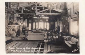 RP, Main Room Of Will Roger's Home, Will Rogers Ranch, Santa Monica, CA, 30-40s
