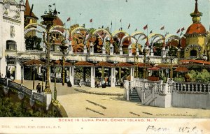 NY - Coney Island. Scene in Luna Park. RPO- Boston, Springfield & NY RR