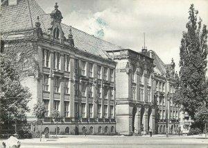 Postcard Poland Szczecin Main building of the Polytechnic