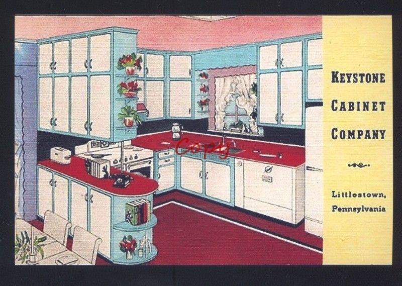 Keystone Cabinet Company Littlestown Pennsylvania Advertising Postcard Copy