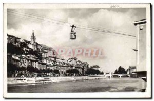 Old Postcard Grenoble Teleferique Bastille L'Isere and St Mary from above