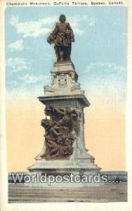 Quebec Canada, du Canada Champlain Monument, Dufferin Terrace  Champlain Monu...