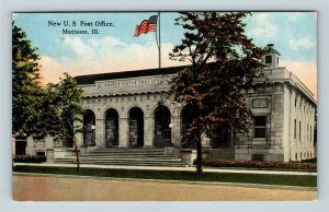 Mattoon IL, US Post Office, Vintage Illinois Postcard