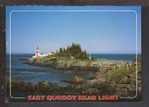 East Quoddy Head Lighthouse Campobella NB Postcard BIN