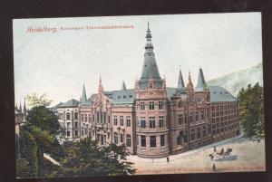 HEIDELBERG GERMANY NEUERBAUTE UNIVERSITSTABIBLICHTHEK GERMAN VINTAGE POSTCARD