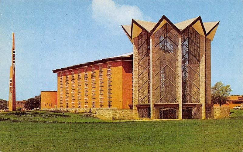 Valparaiso University~Christy Chapel Exterior~Brandt Campanile 1950s
