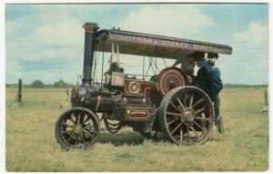 Steam; Burrell Compound 3 Speed Steam Tractor No 3458 PPC, Unposted, c 1970's