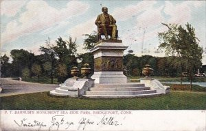 P T Barnums Monument Sea Side Park Bridgeport Connecticut 1906