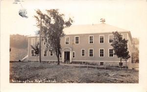 E50/ Wilmington Ohio Real Photo RPPC Postcard c1930s High School Building