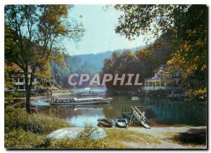 Modern Postcard Villers le Lac Arrival of Boats at Deebarcadere jump Doubs